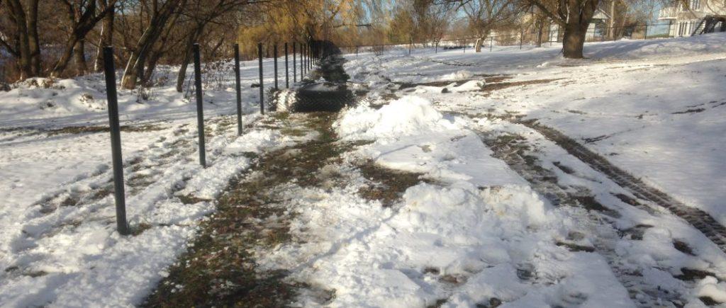 Travaux de clôture hivernaux